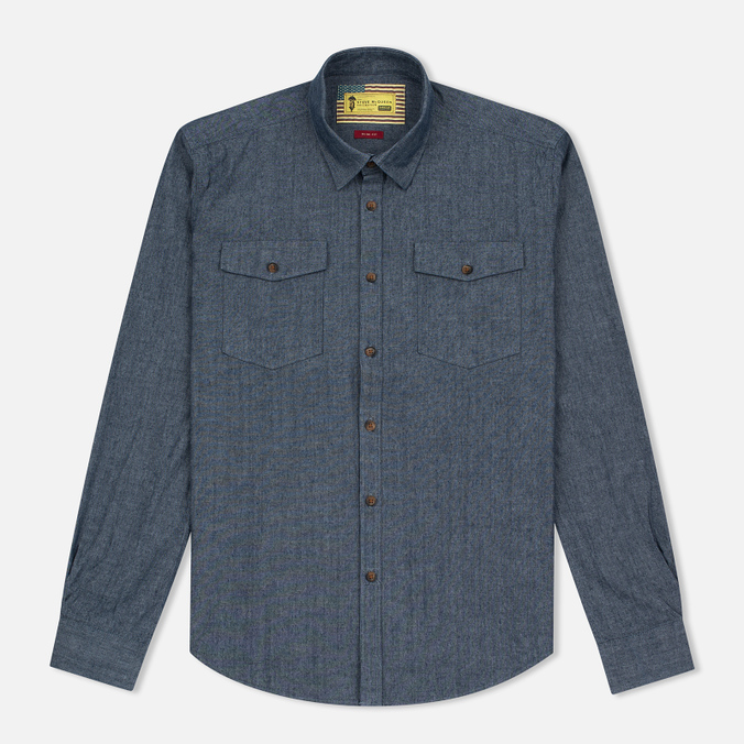 Мужская рубашка Barbour x Steve McQueen Drift Indigo