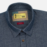 Barbour x Steve McQueen Drift Men's Shirt Indigo photo- 1
