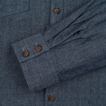 Barbour x Steve McQueen Drift Men's Shirt Indigo photo- 3