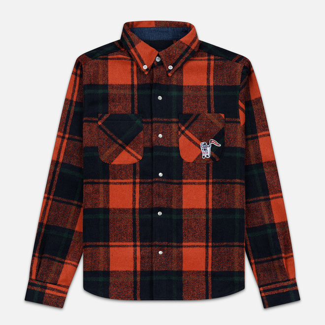 Мужская рубашка Billionaire Boys Club Heavy Check Orange