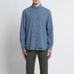 Мужская рубашка Bleu De Paname Chemise Bureau Chambray Blue фото- 6