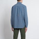 Мужская рубашка Bleu De Paname Chemise Bureau Chambray Blue фото- 7