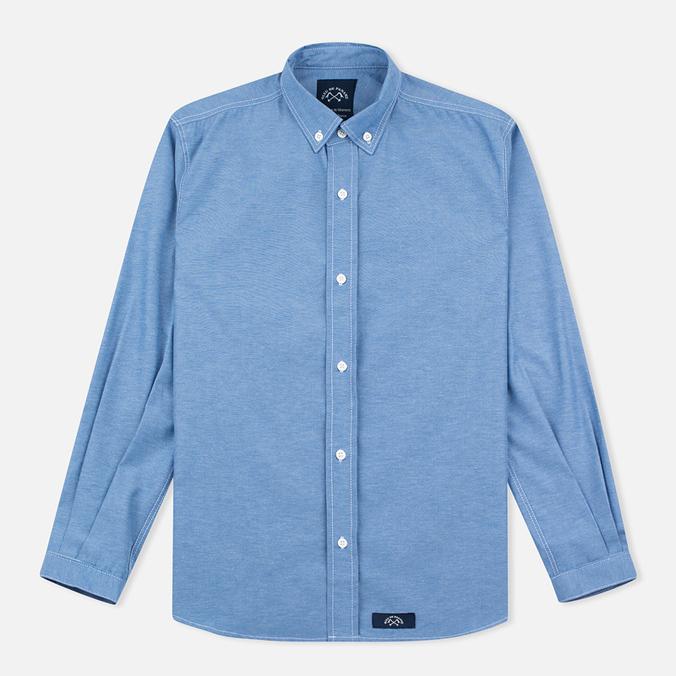 Мужская рубашка Bleu De Paname Oxford Office Sky Blue