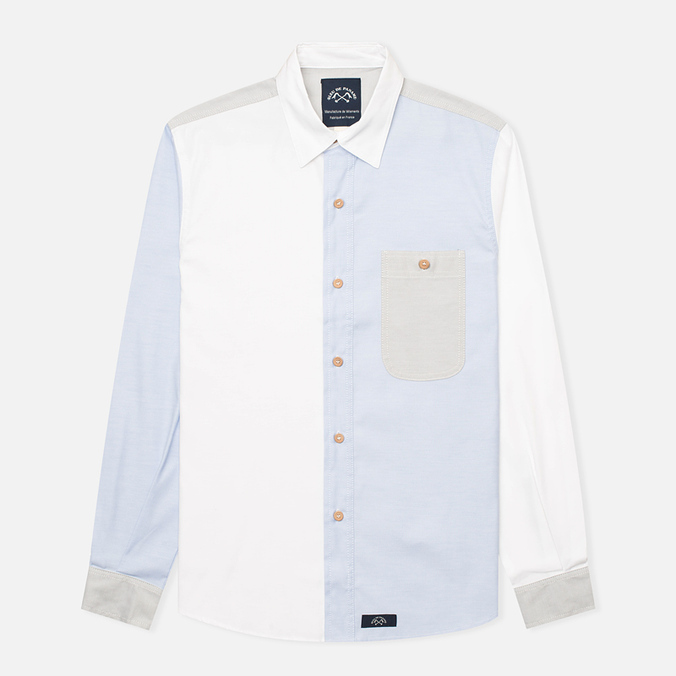 Bleu De Paname Patchwork Men's Shirt Oxford