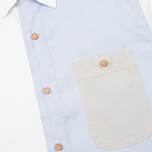 Bleu De Paname Patchwork Men's Shirt Oxford photo- 2