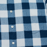 Мужская рубашка Blue Blue Japan Button Down Traditional Check Indigo фото- 2