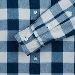 Мужская рубашка Blue Blue Japan Button Down Traditional Check Indigo фото- 3