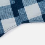 Мужская рубашка Blue Blue Japan Button Down Traditional Check Indigo фото- 4