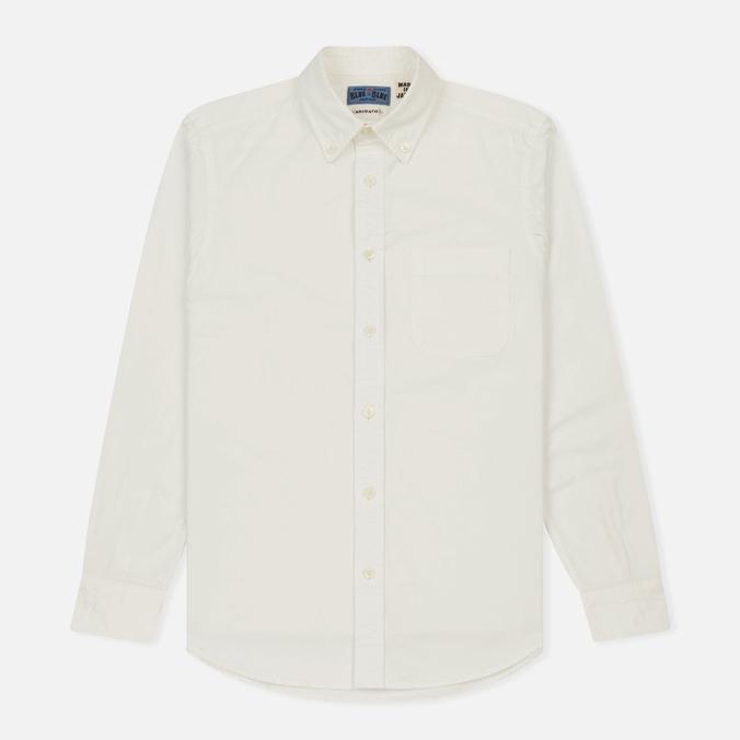 Мужская рубашка Blue Blue Japan J3433 Cotton Oxford White