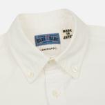 Мужская рубашка Blue Blue Japan J3433 Cotton Oxford White фото- 1