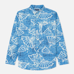 Мужская рубашка Blue Blue Japan J5467 Folding Fun Printed Blue фото- 0