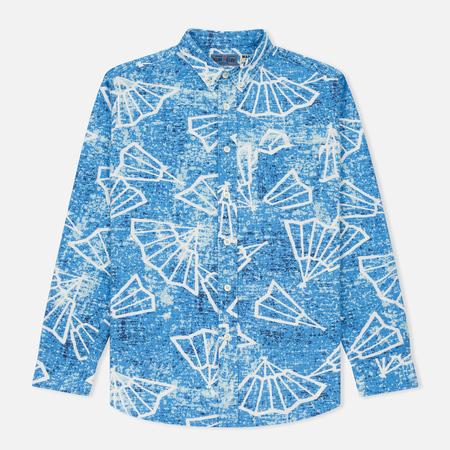 Мужская рубашка Blue Blue Japan J5467 Folding Fun Printed Blue