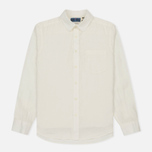 Мужская рубашка Blue Blue Japan J5574 Linen Regular Fit White фото- 0