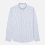 Мужская рубашка Boneville Button Down Stripe W/Chest Pocket Snorkel Blue фото- 0