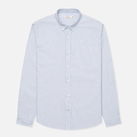 Мужская рубашка Boneville Button Down Stripe W/Chest Pocket Snorkel Blue