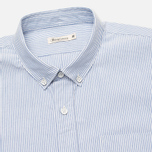 Мужская рубашка Boneville Button Down Stripe W/Chest Pocket Snorkel Blue фото- 1