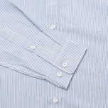 Мужская рубашка Boneville Button Down Stripe W/Chest Pocket Snorkel Blue фото- 4