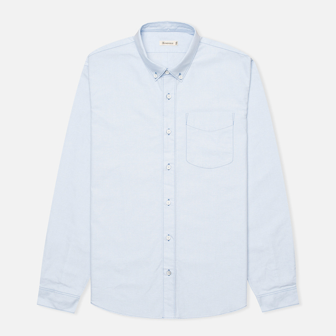 Boneville Button Down Pocket Men's Shirt Snorkel Blue