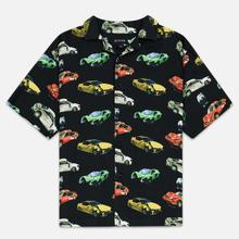 Мужская рубашка Bronze 56K Wrecked Cars Button Up Black фото- 0