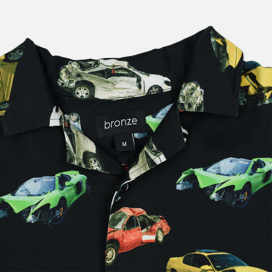Мужская рубашка Bronze 56K Wrecked Cars Button Up Black