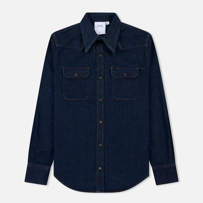 Мужская рубашка Calvin Klein Jeans Est. 1978 Western Denim Panel Rinse Indigo
