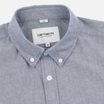 Мужская рубашка Carhartt WIP Alpha Oxford Black фото- 1