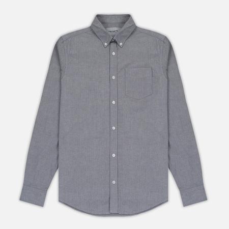 Мужская рубашка Carhartt WIP Button Down Pocket Cotton Oxford 4.7 Oz Black