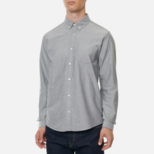 Мужская рубашка Carhartt WIP Button Down Pocket Cotton Oxford 4.7 Oz Black фото- 3