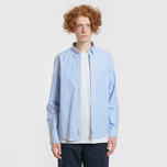 Мужская рубашка Carhartt WIP Button Down Pocket Cotton Oxford 4.7 Oz Bleach фото- 7