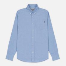 Мужская рубашка Carhartt WIP Button Down Pocket Cotton Oxford 4.7 Oz Bleach фото- 0