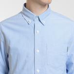 Мужская рубашка Carhartt WIP Button Down Pocket Cotton Oxford 4.7 Oz Bleach фото- 8