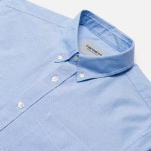 Мужская рубашка Carhartt WIP Button Down Pocket Cotton Oxford 4.7 Oz Bleach фото- 2
