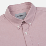Мужская рубашка Carhartt WIP Button Down Pocket Cotton Oxford 4.7 Oz Blush фото- 1