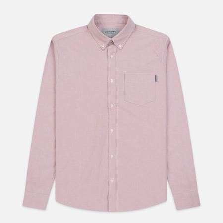 Мужская рубашка Carhartt WIP Button Down Pocket Cotton Oxford 4.7 Oz Blush