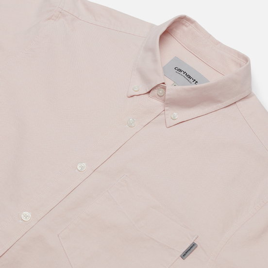 Мужская рубашка Carhartt WIP Button Down Pocket Cotton Oxford 4.7 Oz Powdery