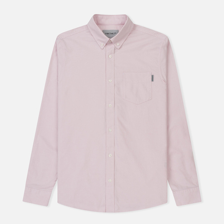Мужская рубашка Carhartt WIP Button Down Pocket Cotton Oxford 4.7 Oz Sandy Rose