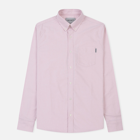 Мужская рубашка Carhartt WIP Button Down Pocket Cotton Oxford 4.7 Oz Soft Purple