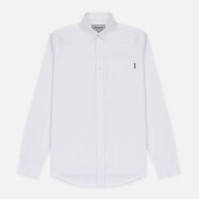 Мужская рубашка Carhartt WIP Button Down Pocket Cotton Oxford 4.7 Oz White фото- 0