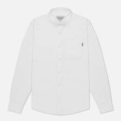 Мужская рубашка Carhartt WIP Button Down Pocket Cotton Oxford 4.7 Oz White
