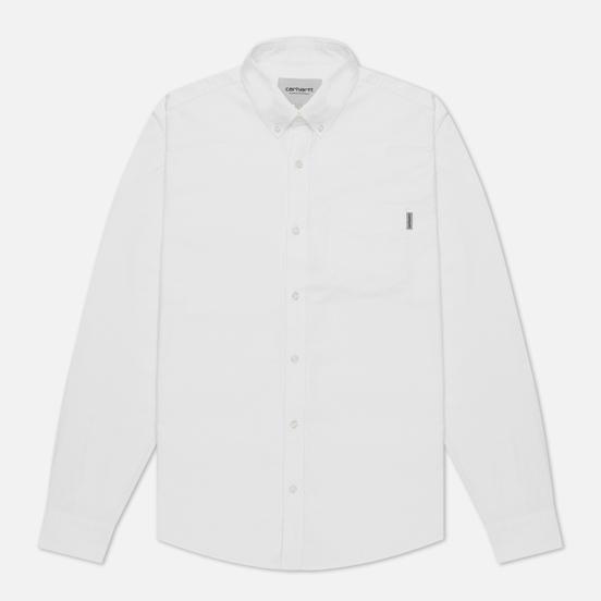 Мужская рубашка Carhartt WIP Button Down Pocket Cotton Oxford 4.7 Oz White