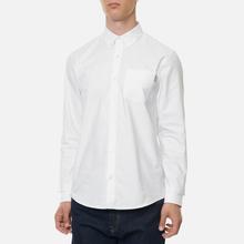 Мужская рубашка Carhartt WIP Button Down Pocket Cotton Oxford 4.7 Oz White фото- 3