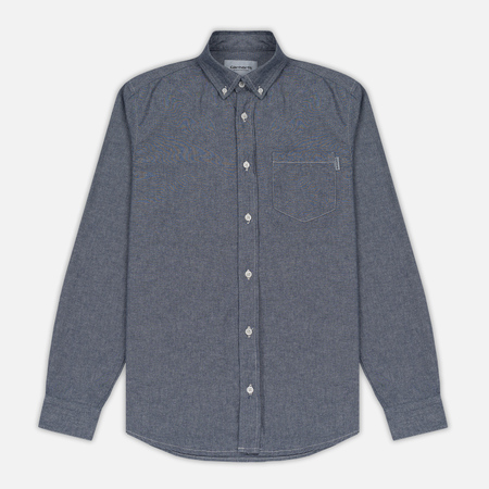 Мужская рубашка Carhartt WIP Civil Blue Rinsed
