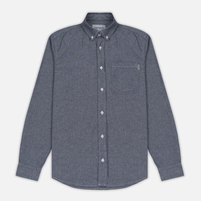 Мужская рубашка Carhartt WIP Civil Blue Rinsed
