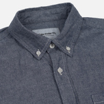 Мужская рубашка Carhartt WIP Civil Blue Rinsed фото- 1