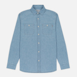 Мужская рубашка Carhartt WIP Clink Blue Stone Bleached фото- 0