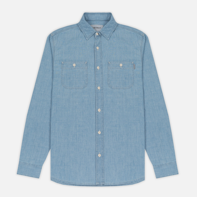 Мужская рубашка Carhartt WIP Clink Blue Stone Bleached