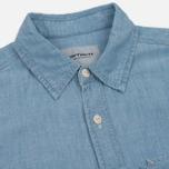 Мужская рубашка Carhartt WIP Clink Blue Stone Bleached фото- 1