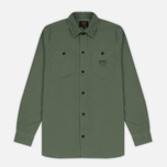 Мужская рубашка Carhartt WIP Curt Dollar Green/Black Stone Washed фото- 0