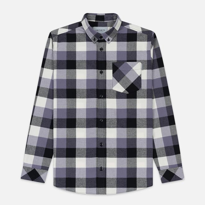 Мужская рубашка Carhartt WIP Keagan Check/Decent Purple