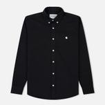 Мужская рубашка Carhartt WIP Madison 6.5 Oz Black/Wax фото- 0